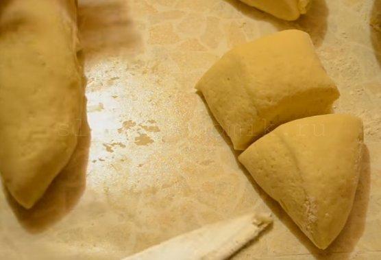 Торт микадо - разделяем тесто на части