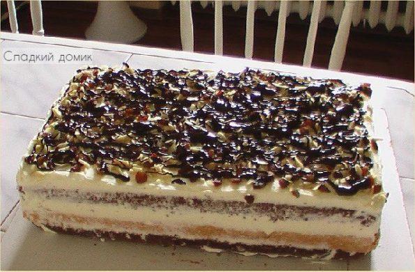 Торт три богатыря на сливках
