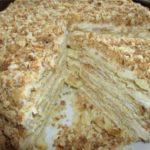 Вкусный торт «Наполеон» домашний с заварным кремом