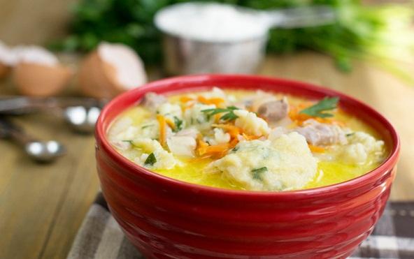 Куриный суп с клецками рецепт