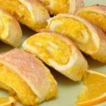 Печенье с апельсиновой цедрой рулетиком