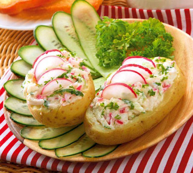 Картошка с редисом