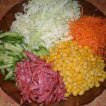 Салат «Огород» с чипсами