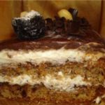 Торт Звезда на День Защитника Отечества с абрикосом и черносливом!