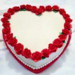 Как украсить торт мастикой в виде сердца?