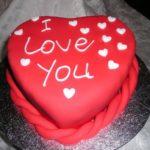 Торт «Сердце» из мастики — ко дню Валентина!