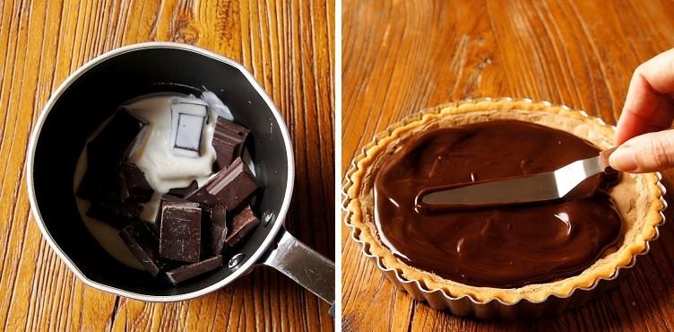 Варим шоколад для торта