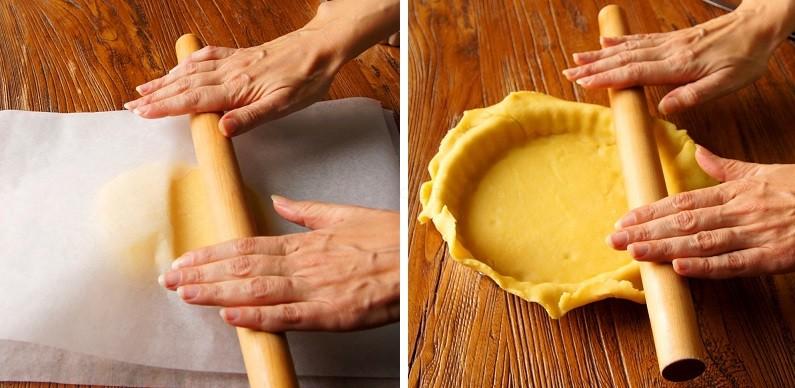 Кладем тесто в форму