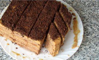 Торт микадо - придаем форму фото