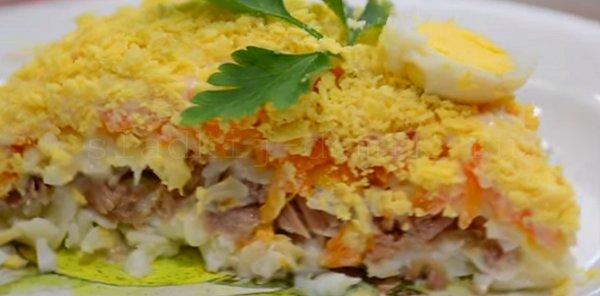 Салат мимоза рецепт с консервой классический