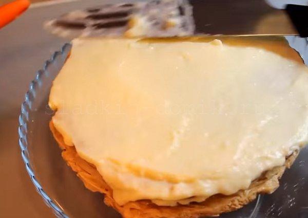 Торт эстерхази - смазываем все кремом