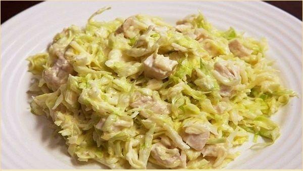 Салат из пекинской капусты с ветчиной рецепт