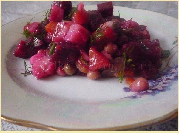 Рецепт винегрета с горошком