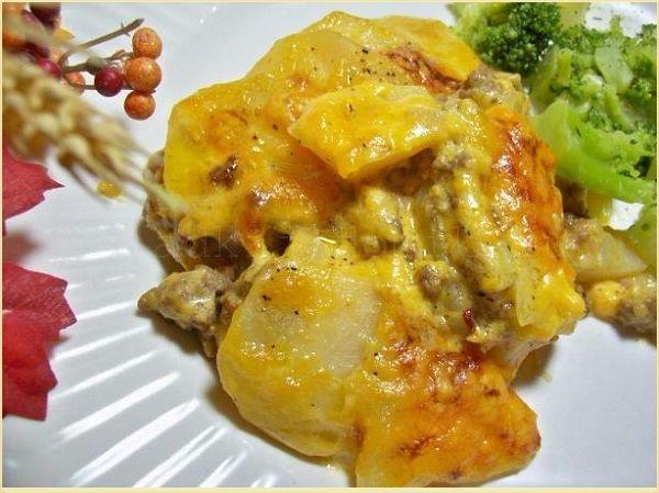 Рецепт запеканки с фаршем и сыром