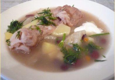 Суп из красной фасоли и курицей