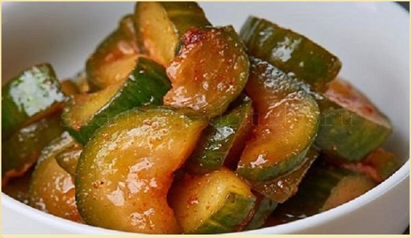 Огурцы по-корейски с соевым соусом