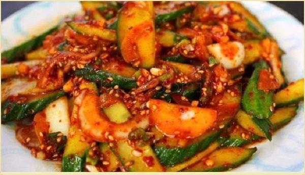 Вкусный рецепт огурцы по корейски с морковкой заготовка