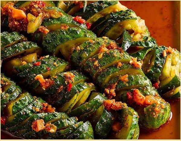 Рецепт огурцы по-корейски с овощами