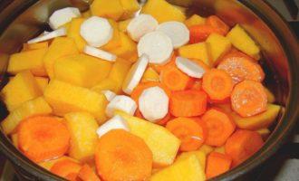 Тыквенный суп пюре - ставим на огонь фото
