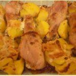 Курица с картошкой в духовке рецепт