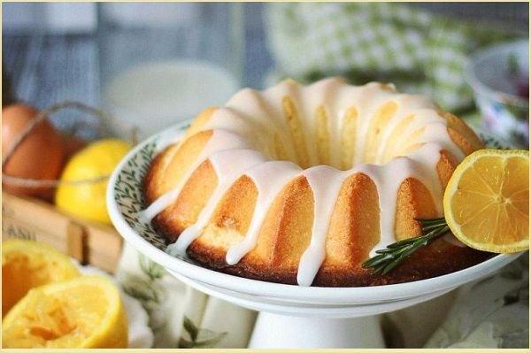 Лимонный кекс в духовке