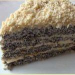 Рецепт торта «Царица Эстер» — маковый торт!