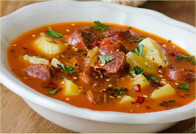 Суп с картошкой и мясом