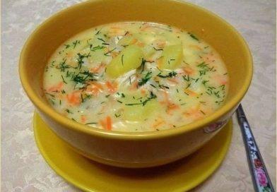 Сырный суп из плавленого сыра