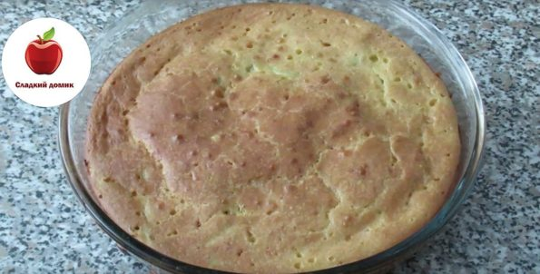 Заливной пирог с капустой приготовлен