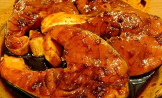 Лосось жареный - маринуем рыбу