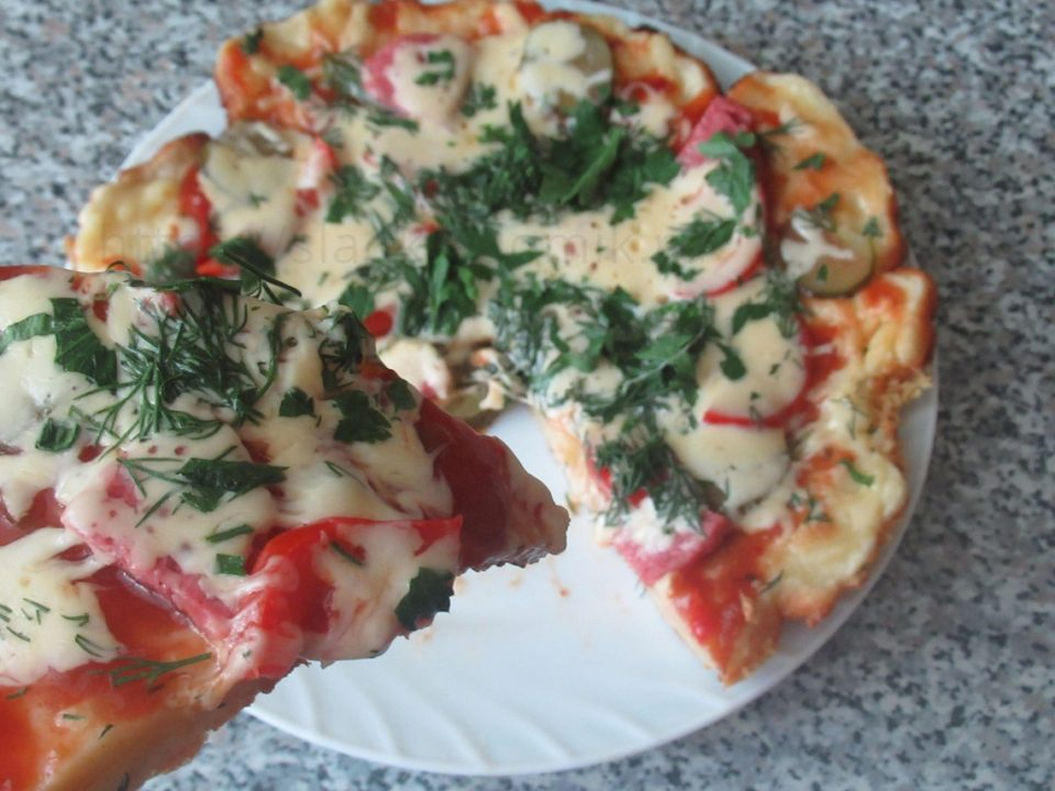 Пицца на сковороде быстрый рецепт