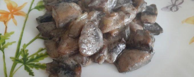 Лесные грибы со сметаной простой рецепт