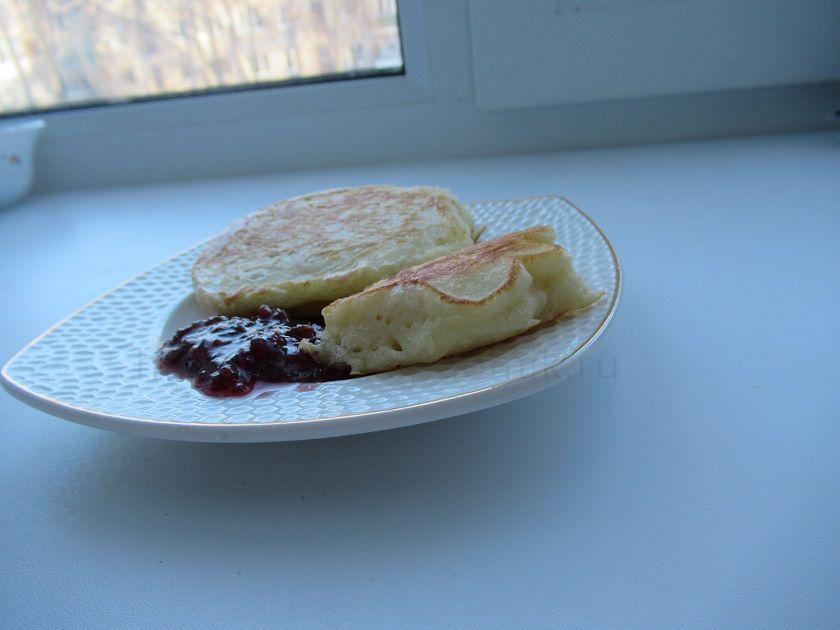 Оладьи на кефире - фото рецепт