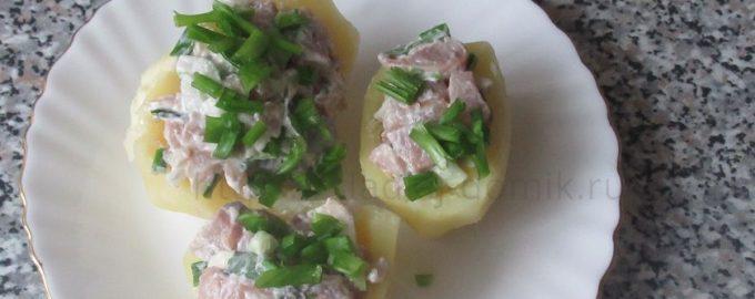 Картошка фаршированная селедкой фото