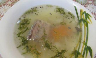 Рыбные щи из консервов фото