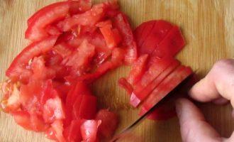 Салат красное море - помидор фото