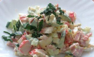 Салат Машенька с крабовыми палочками рецепт