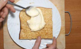 Торт молочная девочка - намазываем кремовую начинку