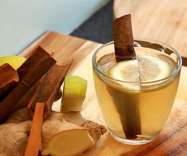 Чай с корнем имбиря и корицей