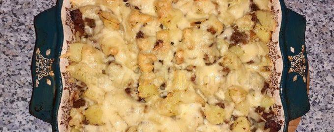 Мясо с картошкой и сыром рецепт