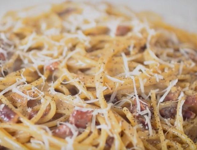 Итальянские спагетти карбонара