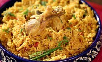 Плов с курицей в казане рецепт