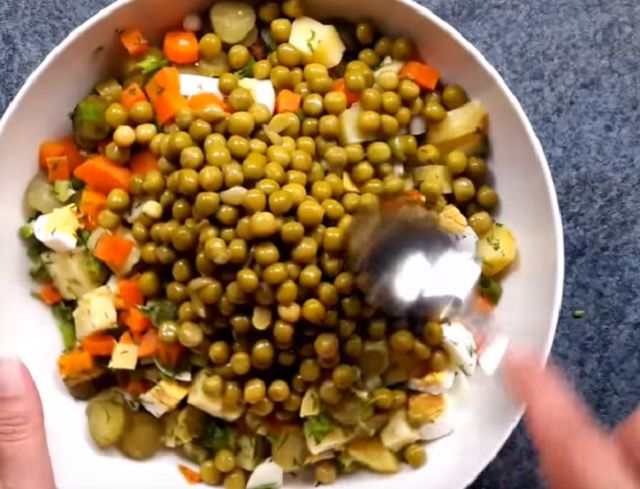 Горошек для оливье