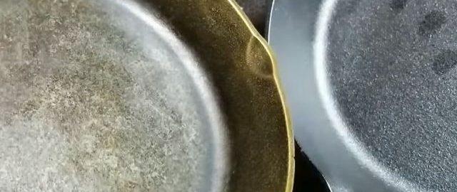 Как очистить сковороду от жира