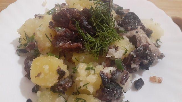 Строчки с картошкой рецепт на сковородке