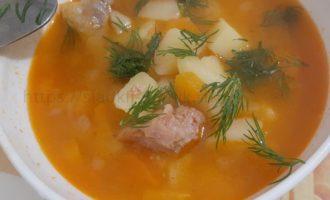 Куриный суп домашний