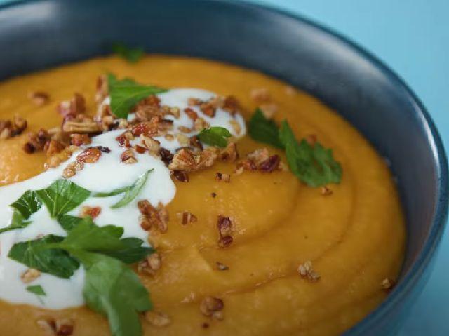 Густой суп пюре из картофеля