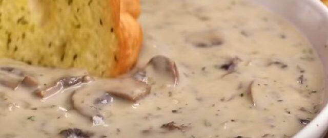 Крем суп из шампиньонов со сливками