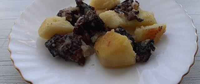 Грибы строчки с картошкой