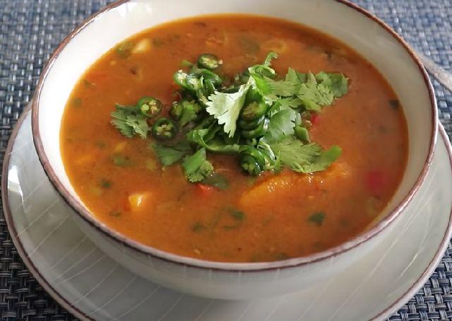 Куриный суп из тыквы